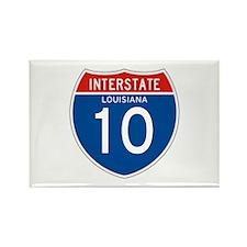 Interstate 10 - LA Rectangle Magnet