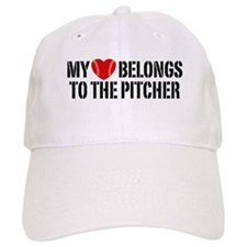 My Heart Belongs To The Pitcher Baseball Cap