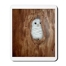 StephanieAM Baby Owl Mousepad