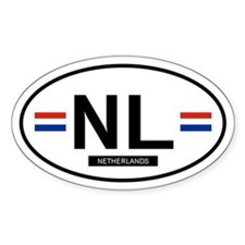 Netherlands Oval Stickers