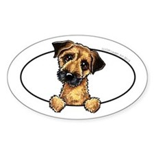 Border Terrier Peeking Bumper Decal