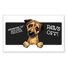 Border Terrier Protected Paws Off Decal