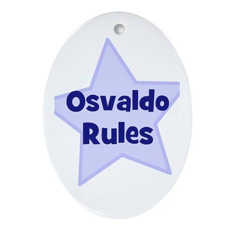 Osvaldo Rules Oval Ornament