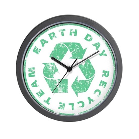 Earth Day Recycle Team Wall Clock by ilovemytshirt