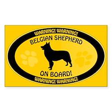 Belgian Shepherd On Board Decal