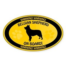 Belgian Shepherd On Board Decal