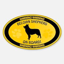 Belgian Shepherd On Board Sticker (Oval)