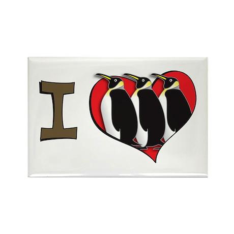 I heart penguins Rectangle Magnet