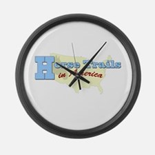 Horse Trails in America Large Wall Clock