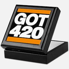 got 420 orange Keepsake Box