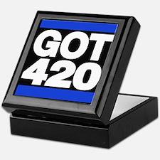got 420 blue Keepsake Box