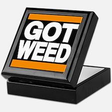 got weed orange Keepsake Box