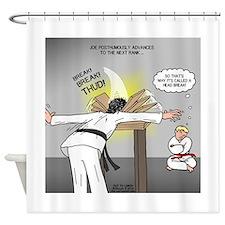 Karate Head Break Shower Curtain