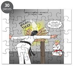 Karate Head Break Puzzle