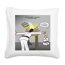 Karate Head Break Square Canvas Pillow