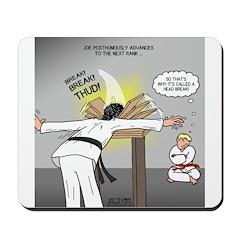 Karate Head Break Mousepad
