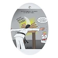Karate Head Break Ornament (Oval)