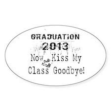 2013 Graduation Kiss Class Goodbye Decal