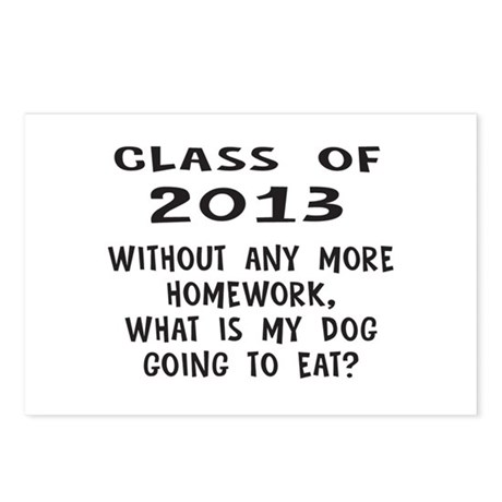 Class of 2013 Homework Postcards (Package of 8)