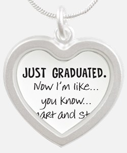 Just Graduated Blonde Humor Necklaces