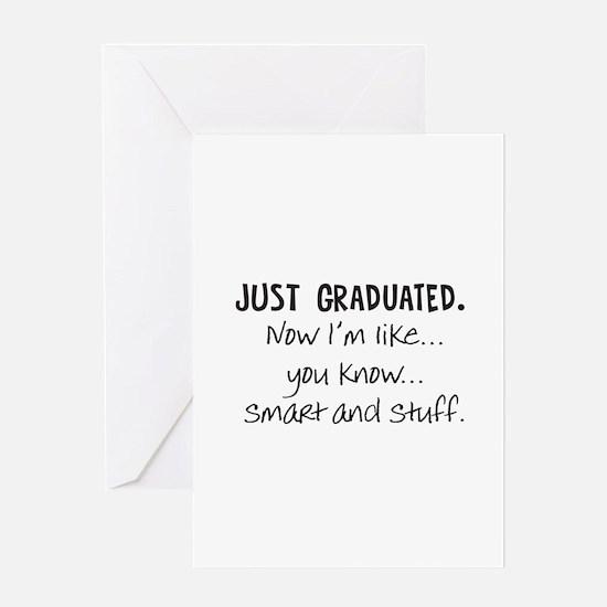 Just Graduated Blonde Humor Greeting Card