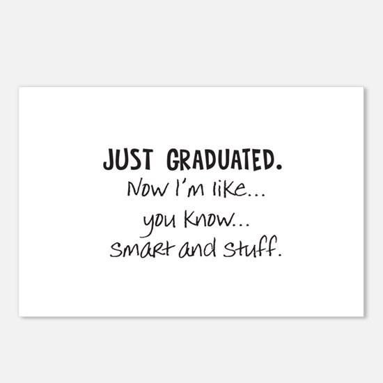 Just Graduated Blonde Humor Postcards (Package of