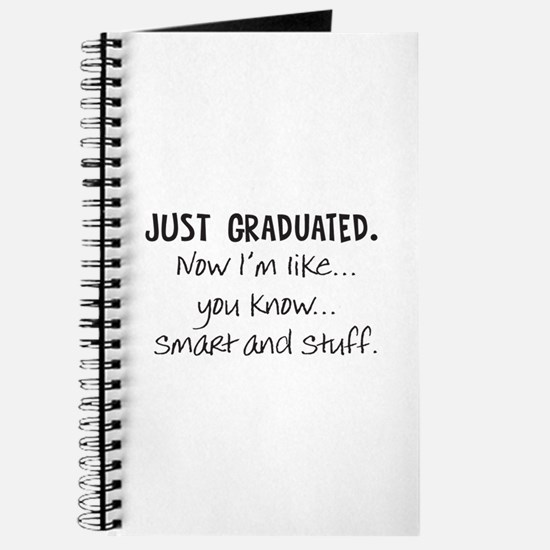 Just Graduated Blonde Humor Journal