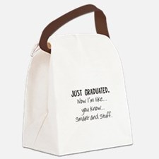 Just Graduated Blonde Humor Canvas Lunch Bag