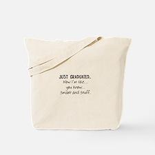 Just Graduated Blonde Humor Tote Bag