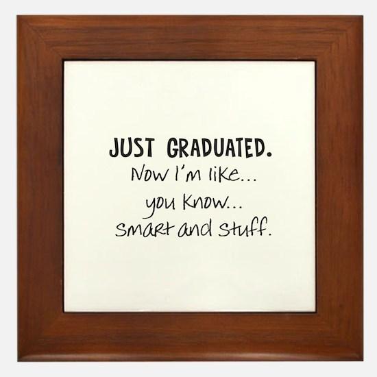 Just Graduated Blonde Humor Framed Tile