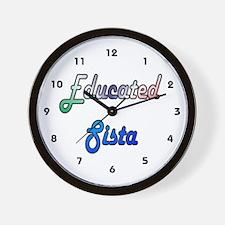 Educated Sista 2 Wall Clock