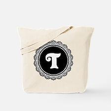 CUSTOM INITIAL Round Monogram Tote Bag