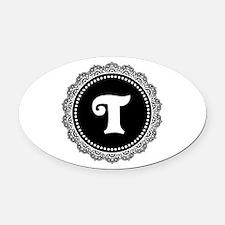 CUSTOM INITIAL Round Monogram Oval Car Magnet