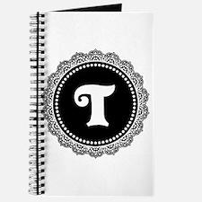 CUSTOM INITIAL Round Monogram Journal