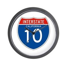 Interstate 10 - CA Wall Clock