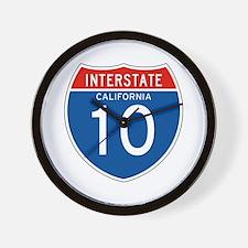 Interstate 10 - CA Wall Clock