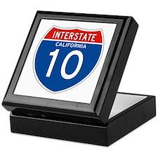 Interstate 10 - CA Keepsake Box