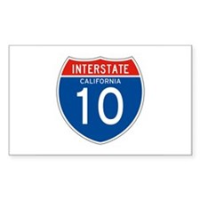 Interstate 10 - CA Rectangle Decal
