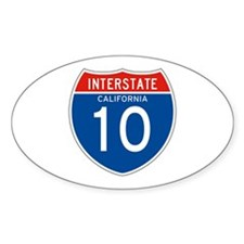 Interstate 10 - CA Oval Decal