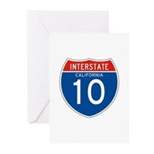Interstate 10 - CA Greeting Cards (Pk of 10)