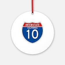 Interstate 10 - CA Ornament (Round)