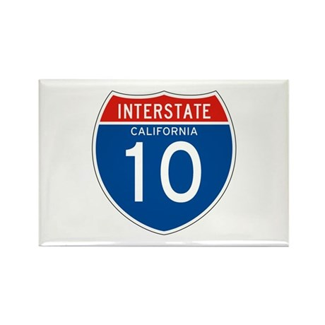 Interstate 10 - CA Rectangle Magnet (100 pack)