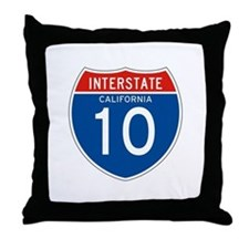 Interstate 10 - CA Throw Pillow