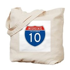 Interstate 10 - CA Tote Bag