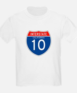 Interstate 10 - CA Kids T-Shirt