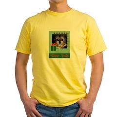 Happy Xmas Shaggy Dog Yellow T-Shirt