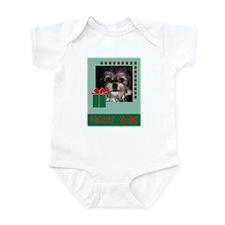 Happy Xmas Shaggy Dog Infant Bodysuit