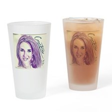 Courtney profile Drinking Glass