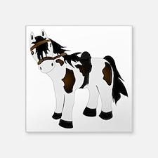 """Pony Square Sticker 3"""" x 3"""""""