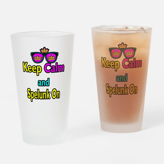 Crown Sunglasses Keep Calm And Spelunk On Drinking